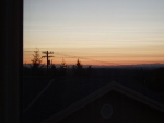 Oregon sunset, from hotel room