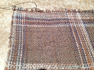 close up cotton-wool sample prewashed