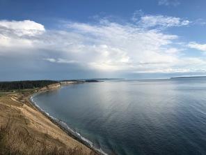 A view along the coast